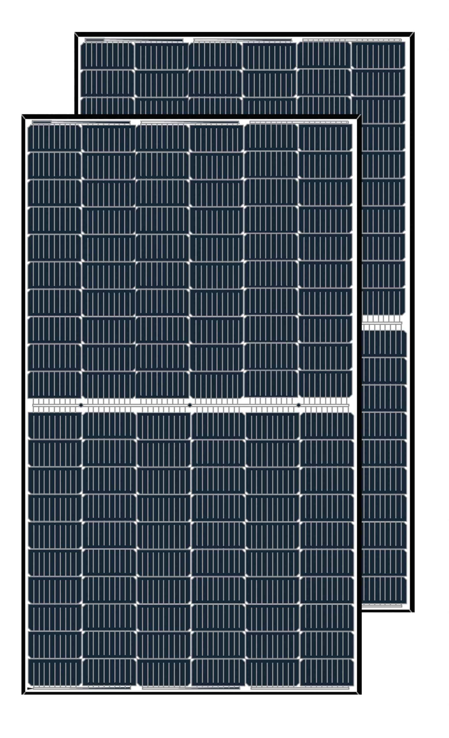 Two LONGi 370w Solar Panels